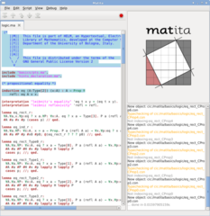 Screenshots of package matita