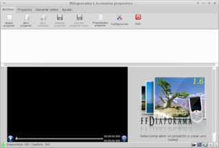 Screenshots of package ffdiaporama