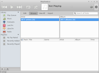 music player and organizer for GNOME