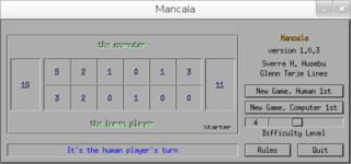 Screenshots of package mancala
