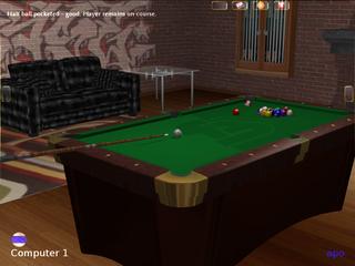 Screenshots of package foobillardplus