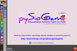 Screenshots of package pysiogame