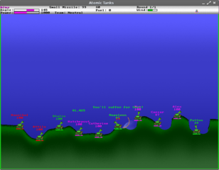 Screenshots of package atanks