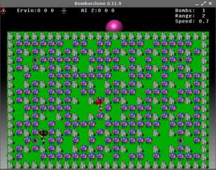 Screenshots of package bomberclone