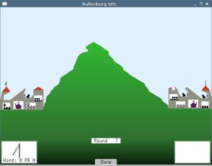 Screenshots of package ballerburg