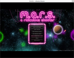 Screenshots of package marsshooter