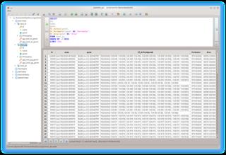 Screenshots of package spatialite-gui