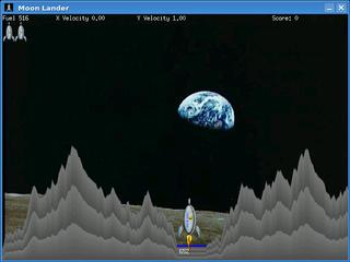 Screenshots of package moon-lander