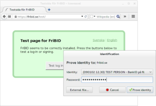 FriBID Test Page
