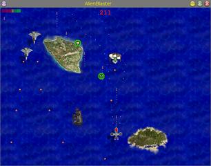 Screenshots of package alienblaster
