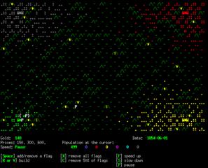 Screenshots of package curseofwar