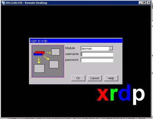 Screenshots of package xrdp
