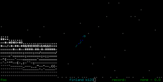 Screenshots of package asciijump