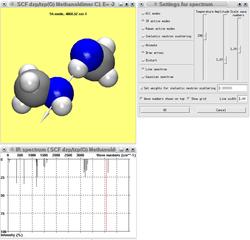 Screenshots of package viewmol