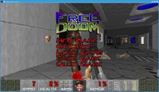 Screenshots of package freedoom