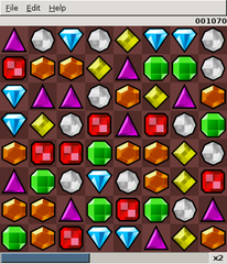 Screenshots of package gweled