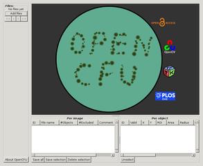 Screenshots of package opencfu