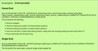 Screenshots of package trimmomatic