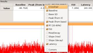 Screenshots of package stimfit