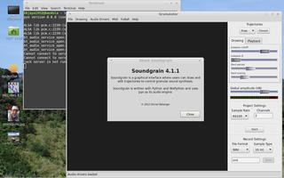 Screenshots of package soundgrain