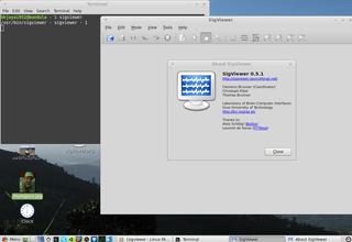 Screenshots of package sigviewer