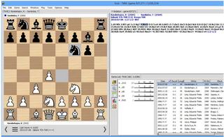 Screenshots of package scid