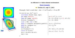 Screenshots of package rheolef