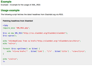 php based parser for RSS news feeds