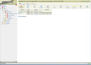 Screenshots of package phppgadmin