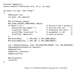 Screenshots of package pgapack