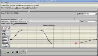 Screenshots of package paulstretch