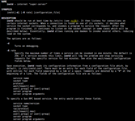 Screenshots of package openbsd-inetd