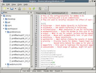 Screenshots of package anjuta