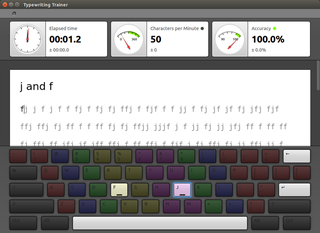 touch typing tutor for KDE