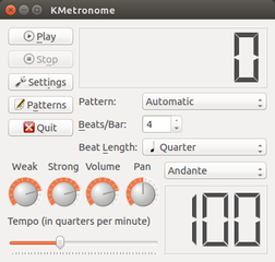Screenshots of package kmetronome