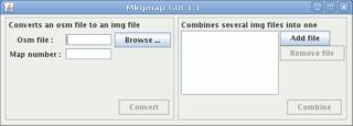 Screenshots of package mkgmapgui