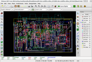 Screenshots of package kicad