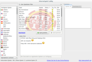 Screenshots of package pokerth