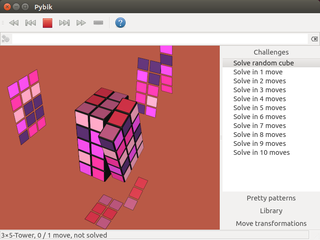 Screenshots of package pybik