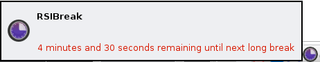 Screenshots of package rsibreak