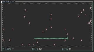 Screenshots of package nsnake