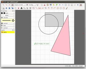 Screenshots of package ipe