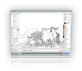Screenshots of package pencil2d