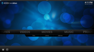 Screenshots of package kodi