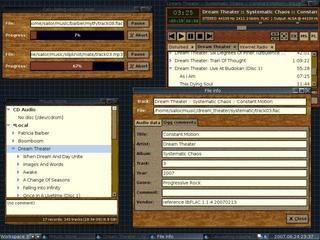 Screenshots of package aqualung