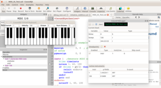 Screenshots of package csoundqt