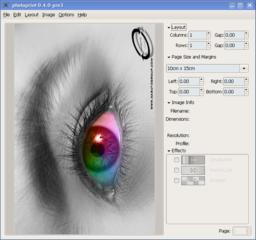Screenshots of package photoprint