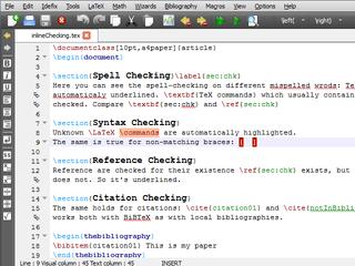 Screenshots of package texstudio
