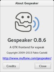 Screenshots of package gespeaker