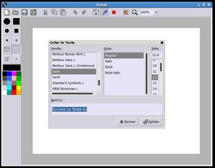 Screenshots of package rgbpaint